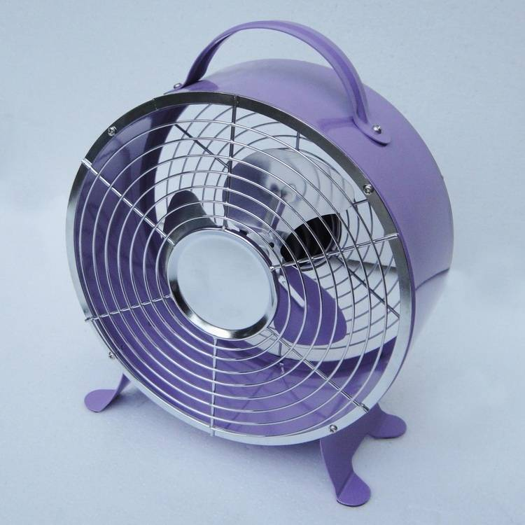 Small Electric Metal 8 Inch AC/DC Clock Shape Table Fan