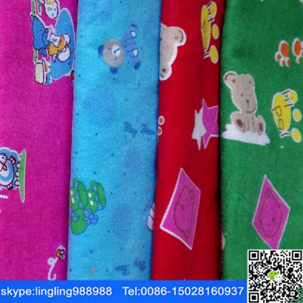 china manufacturer good price tc printed flannel fabric