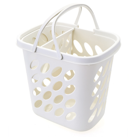 Plastic household laundry basket