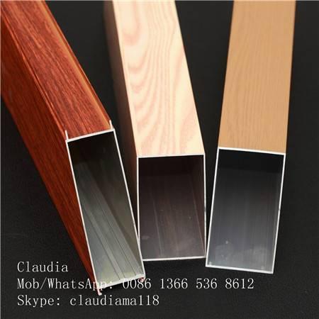 wood grain aluminium extrusion profile