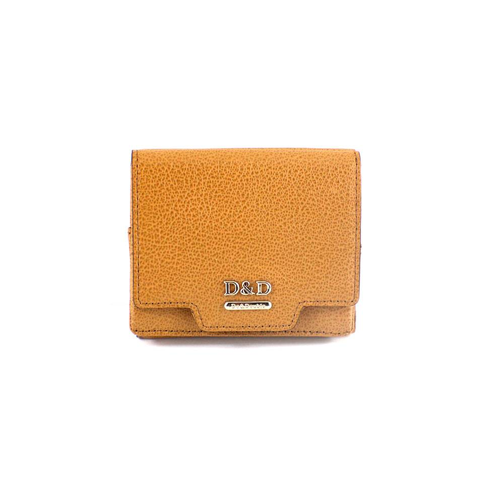 Short women leather wallet