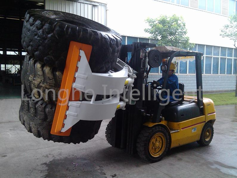 Forklift Truck Tyre Clamp Rotating Attachment