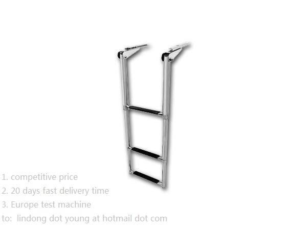 Telescoping Swim Ladder with Safety Stick,  under Platform, 3-Step Ladder