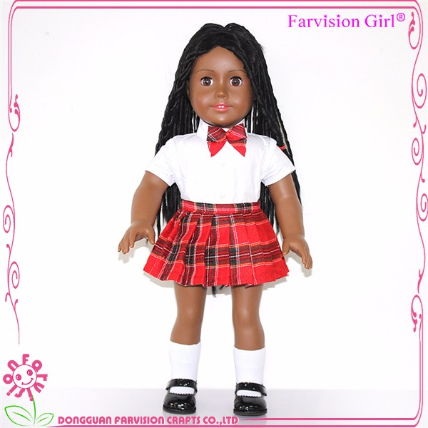 New product 18 inch American girl fashion black doll wholesale