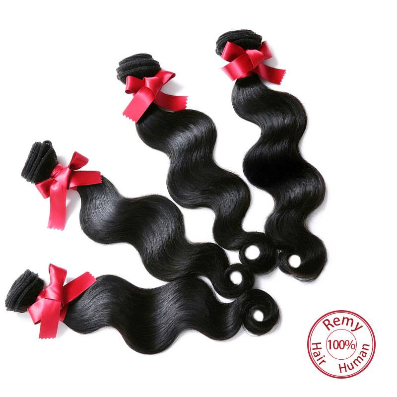EVET Top Grade Brazilian Body Wave Hair Weaves  Virgin Human Hair Extensions