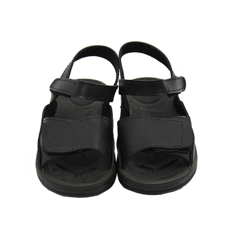Quality Black Anti-static Leather Sandals Molded Directly to Upper