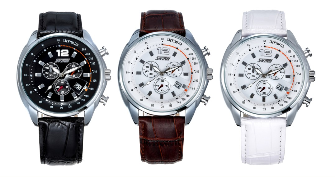 Newest high quality Japan movement quartz 3ATM water resistant wrist watch with Italy leather band