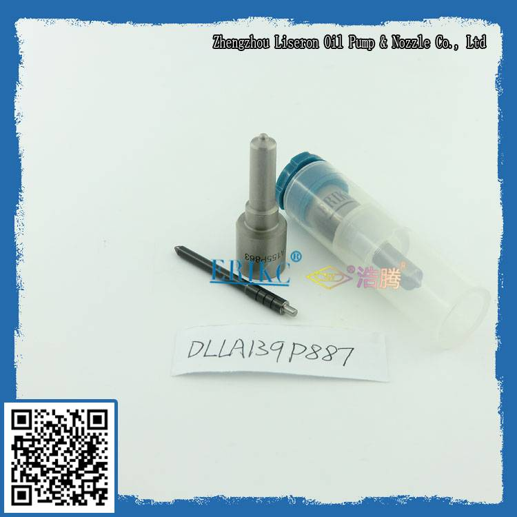 Denso injector nozzle DLLA 139 P 887; China nozzle supplier DLLA139P887 for Kobelco,JMC
