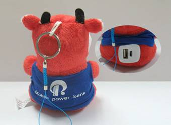 Plush Bull Toys Mobile Power Bank