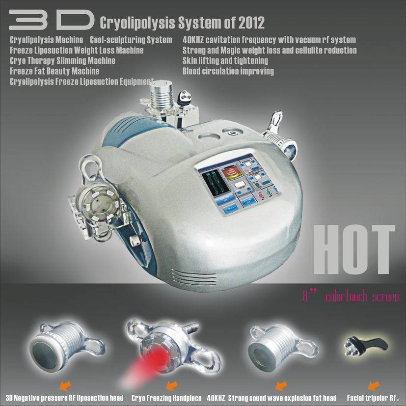 3D fat freezing liposuction vacuum cavitation slimming machine /cryolipolysis