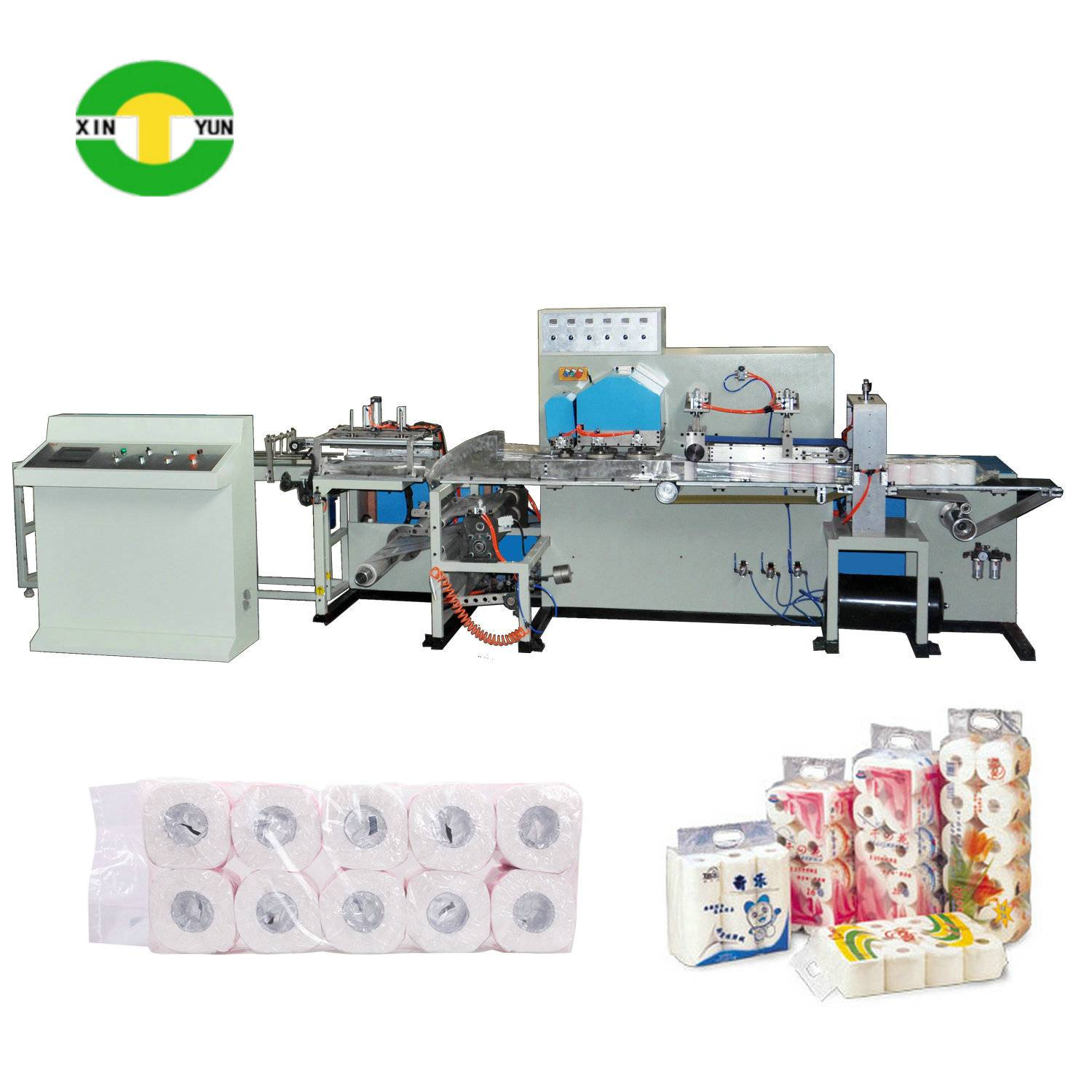 XY-AI-398 Full automatic toilet roll paper packing machine