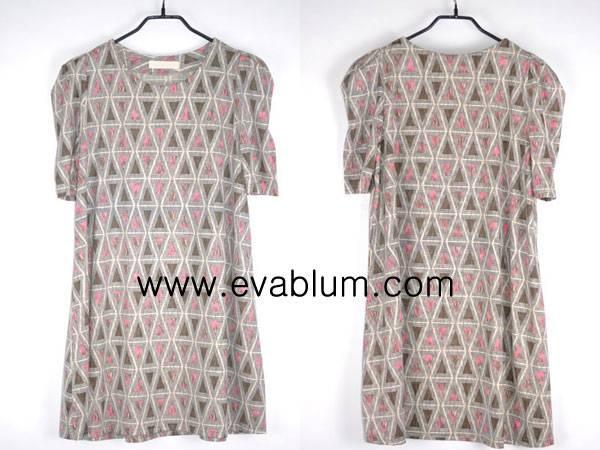 Triangle Fluorescent Onepiece Dress