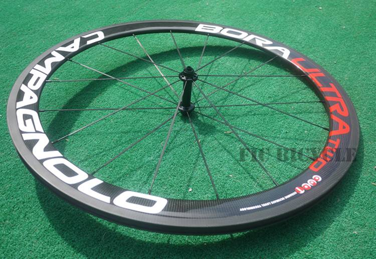 Ultra two 700c carbon 50mm clincher wheel with road balck straight pull hub 11s blade spokes black n