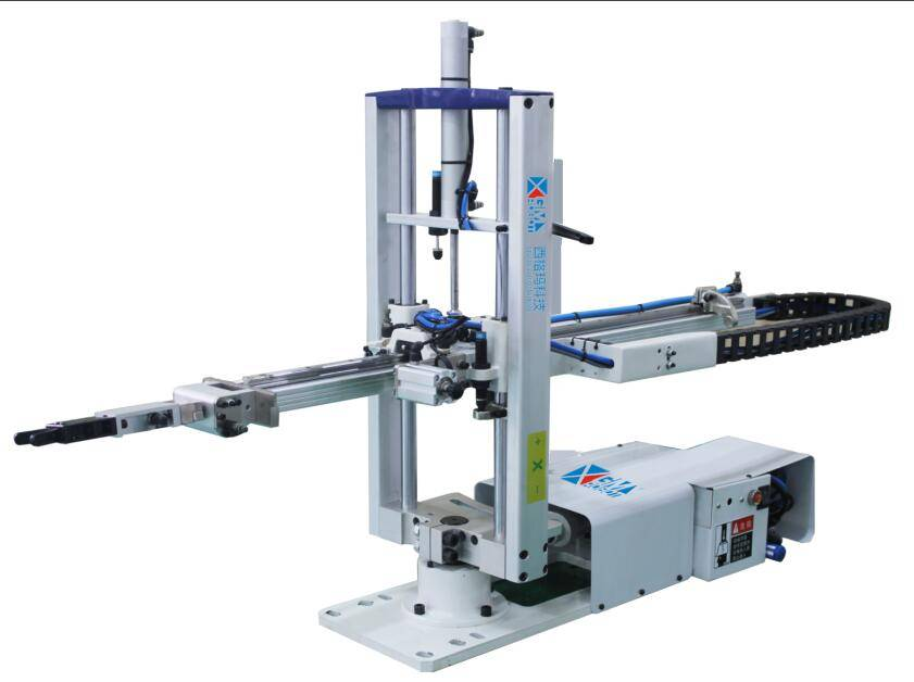 picker robot arm for vertical injection molding machine
