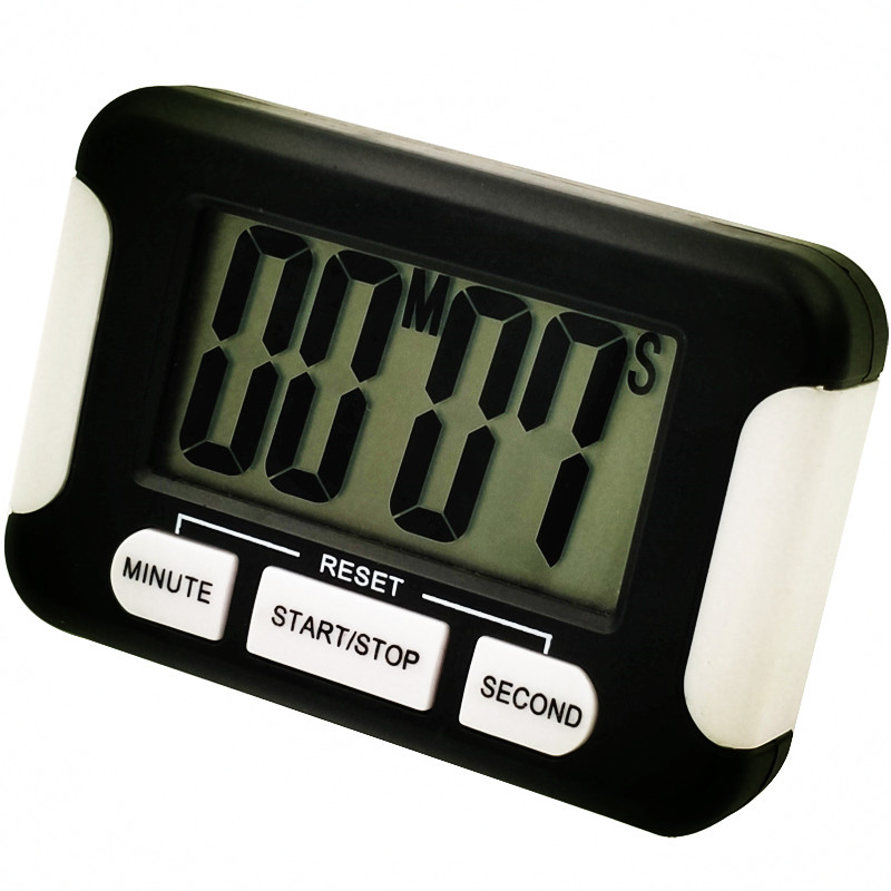 LCD Digital Kitchen Timer Cooking Tools Countdown Holder Back Magnet Hanging Hole