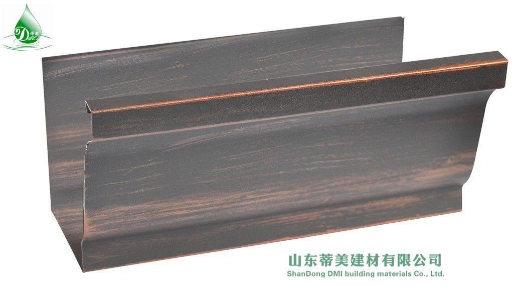 >Corruagted Type Square Coloured Aluminium Downspout Roofing System, View Coloured Aluminium Downspo