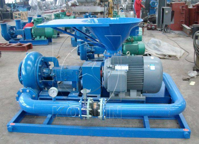 Jet mud mixer for processing weighted drilling fluids