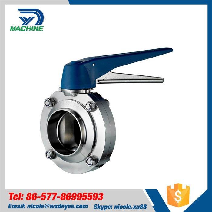 Sanitary Stainless Steel Welding Butterfly Valve
