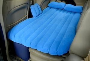 Durable inflatable pvc flocking car backseat mattress