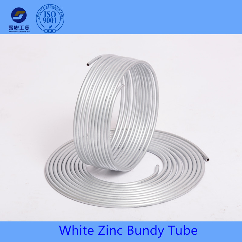 double wall zinc coated bundy pipe for auto brake system