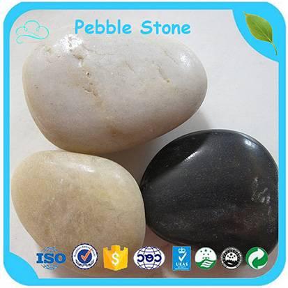 Bulk Wholesale 4-6cm Black / White Round Pebble Stone