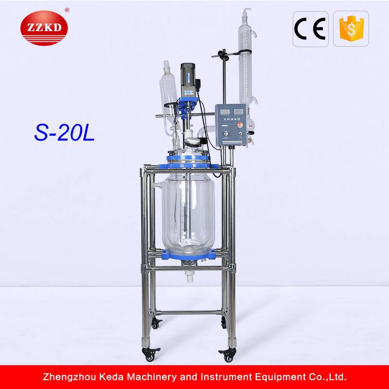 20L Jacketed Galss Reactor for Lab