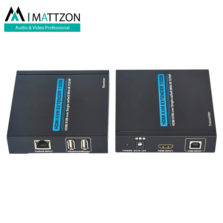 Mattzon 100m HDMI KVM Extender over Single cat5e/6 With IR