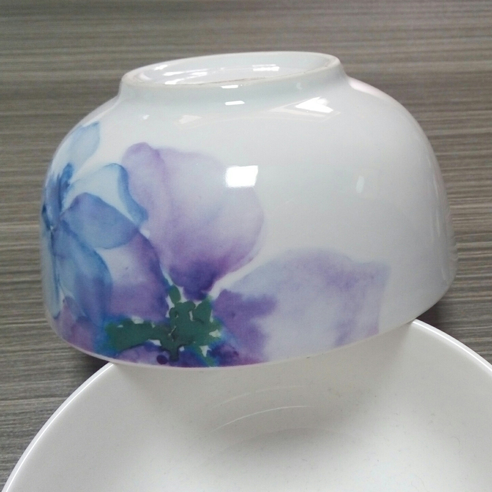 ceramic bulk soup bowl with custom decal