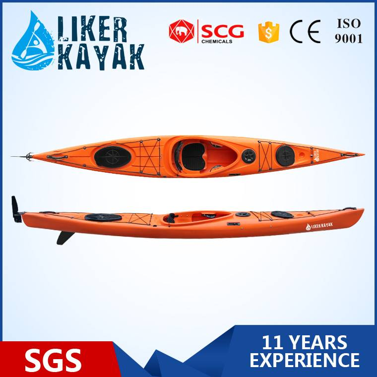 New Design 4.5m Single Sea Kayak with rudder