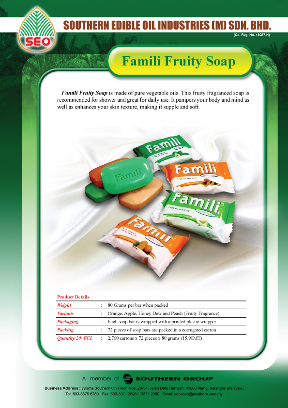 FAMILI Fruity Soap Bar