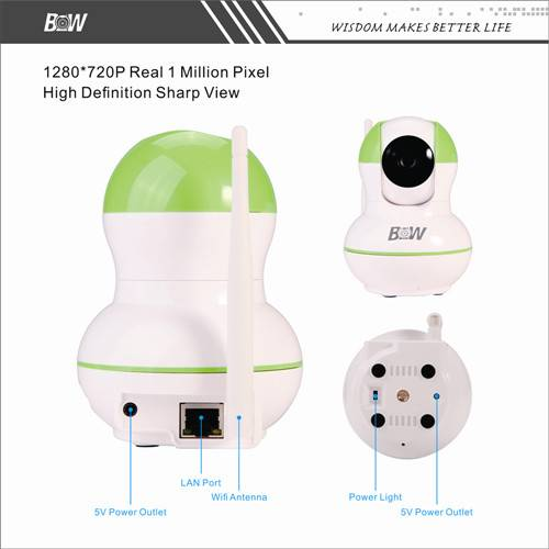 IP Network camera with two way audio and night vision