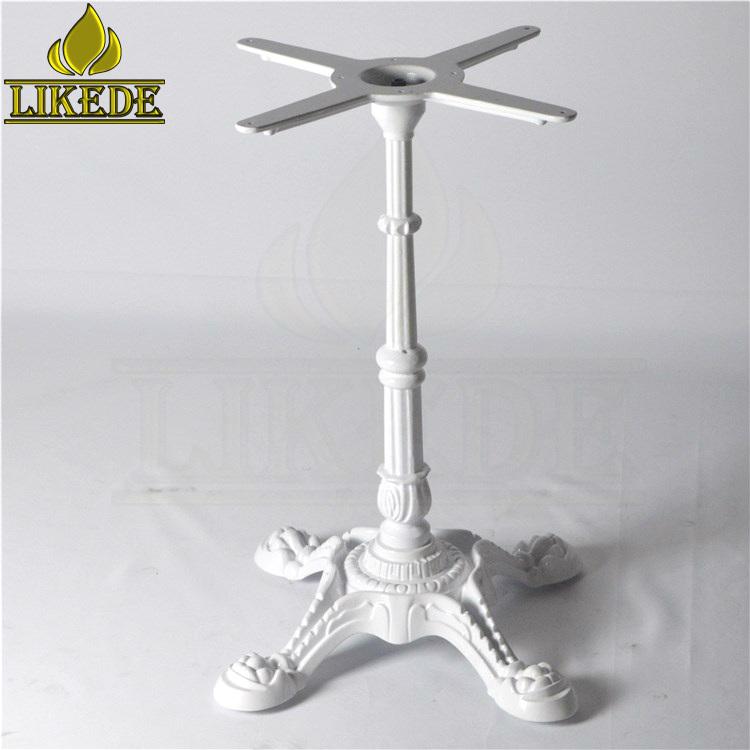 Antique European classic White cast iron table base dining table leg