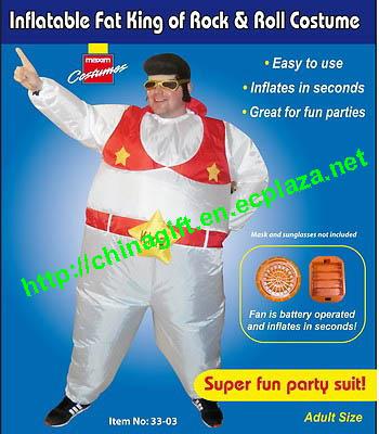 Inflatable Elvis Suit Fancy Dress Costume