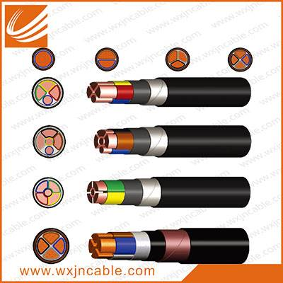 0.6/1KV VV22-Copper Conductor PVC Insulated Steel Tape Armoured PVC Sheathed Power Cable