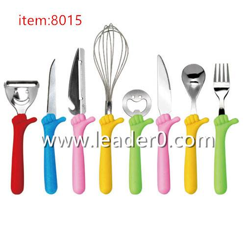 8015 The thumb kids cutlery set/Toddler flatware set/Kids flatware set/Children's dining set