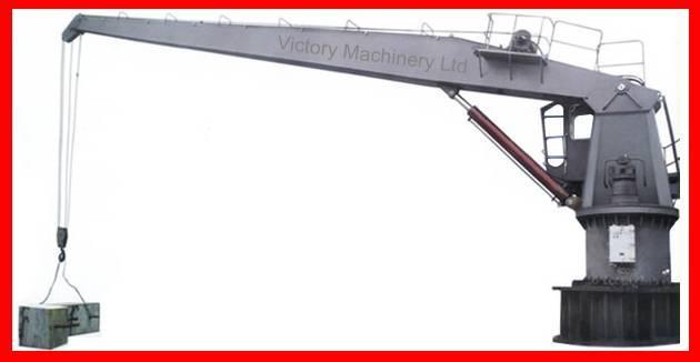 fixed boom marine deck crane
