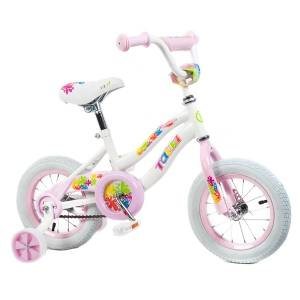 Tauki Colorful 12 inch Flowers Girl Bike, Pink