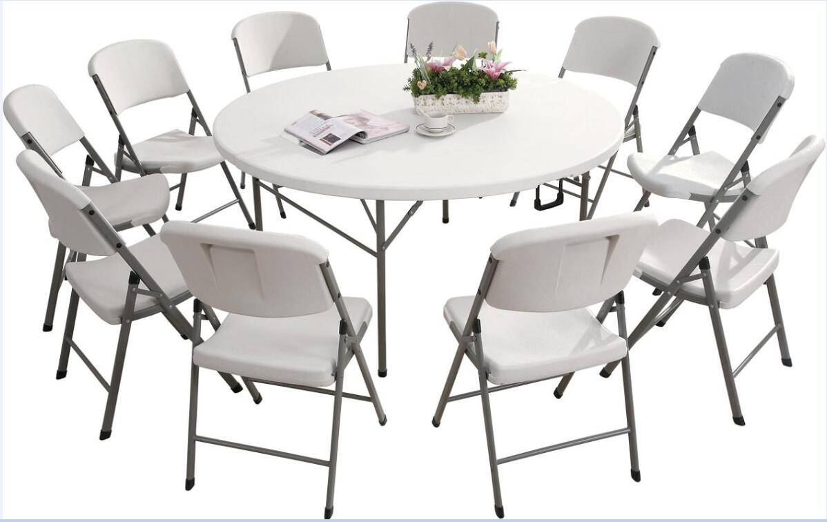 HDPE Blow Molding Plastic Folding Table, Portable Table for Outdoor Part(YCZ-183RZ)y