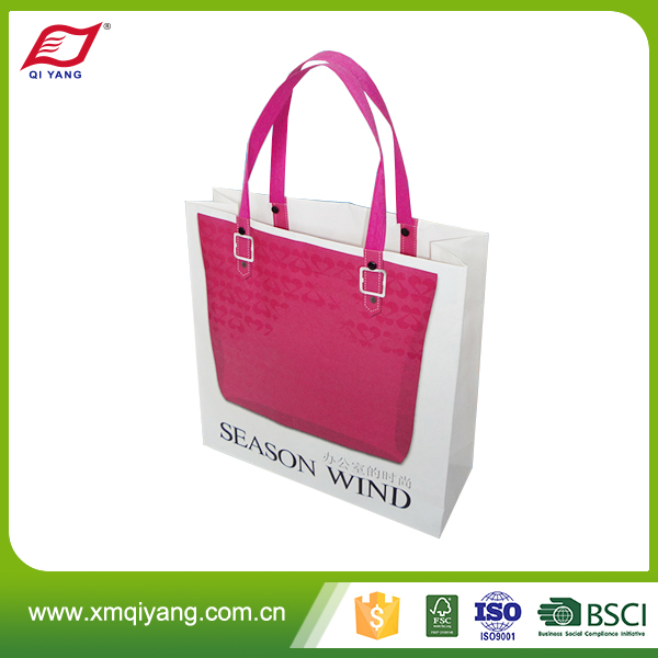 Colorful paper shopping bag with handle wedding birthday party gift package bags