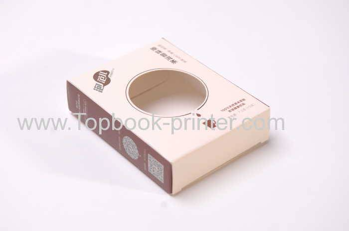 Excellent die cut tea spot UV gift box with window