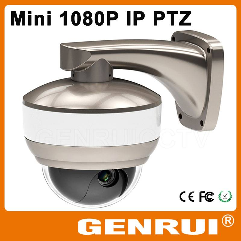GENRUI ONVIF 2 Megapixel Mini PTZ IP Camera with 10x Optical Zoom