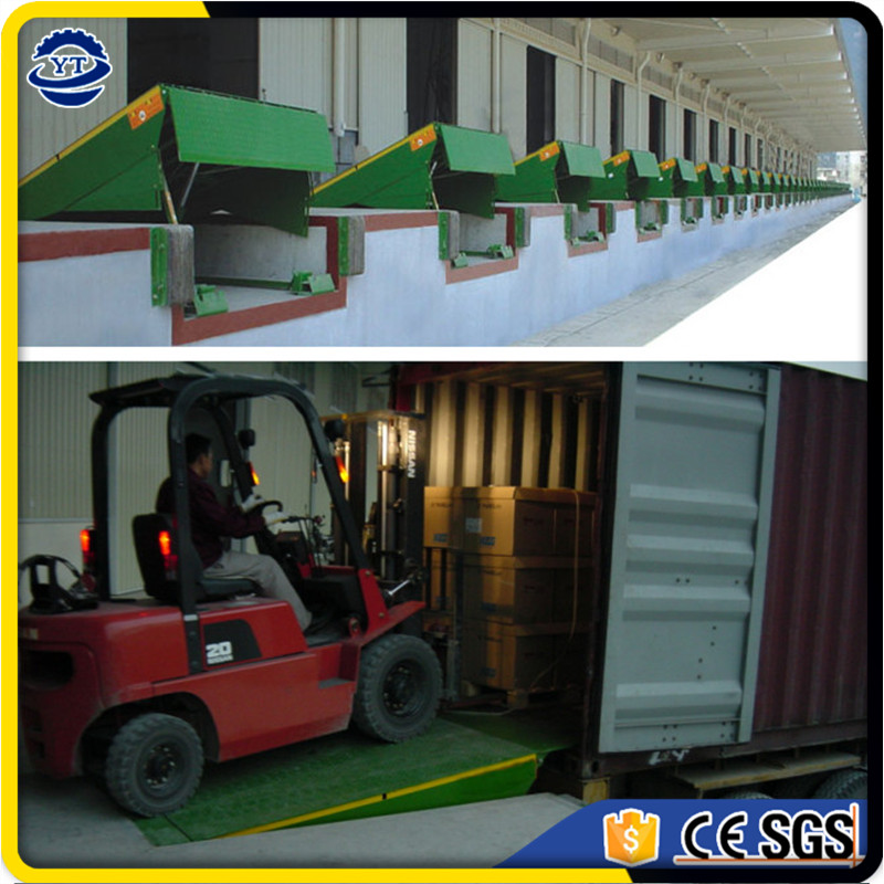 warehouse hydraulic dock leveler container truck loading forklift ramp for sale