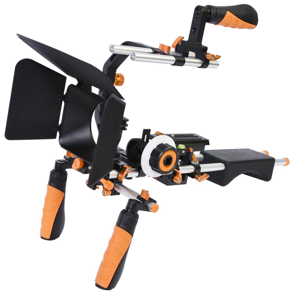 YELANGU Multicolor C-shaped Arm Shoulder Bracket Rig kit For DSLR,SLR