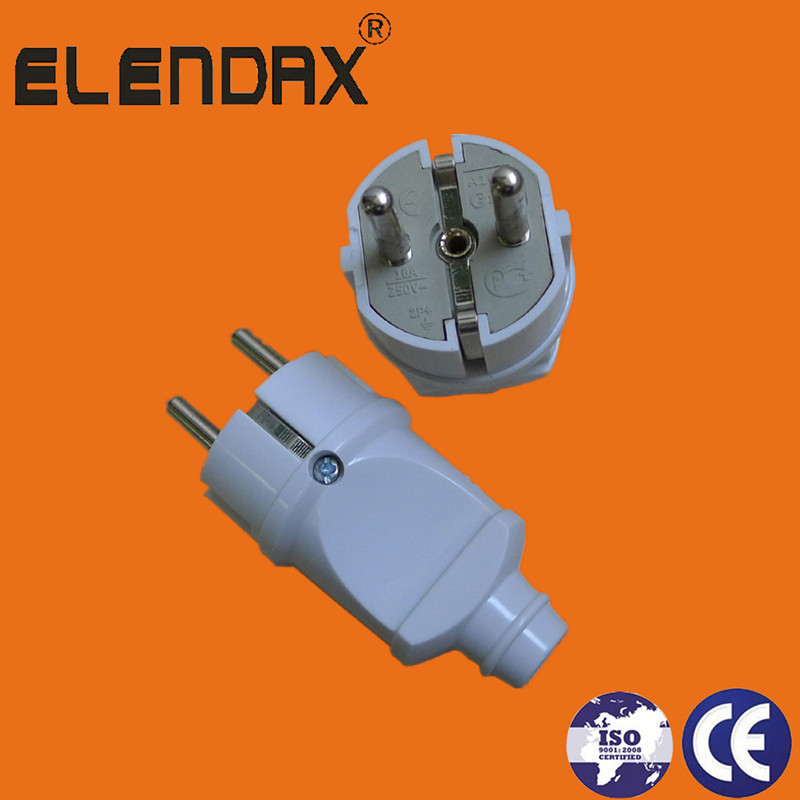 EU 2 Pin Plug with Earth(P8051)