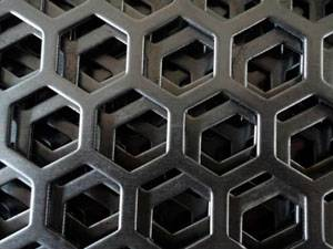 Hexagonal Hole Perforated Metal
