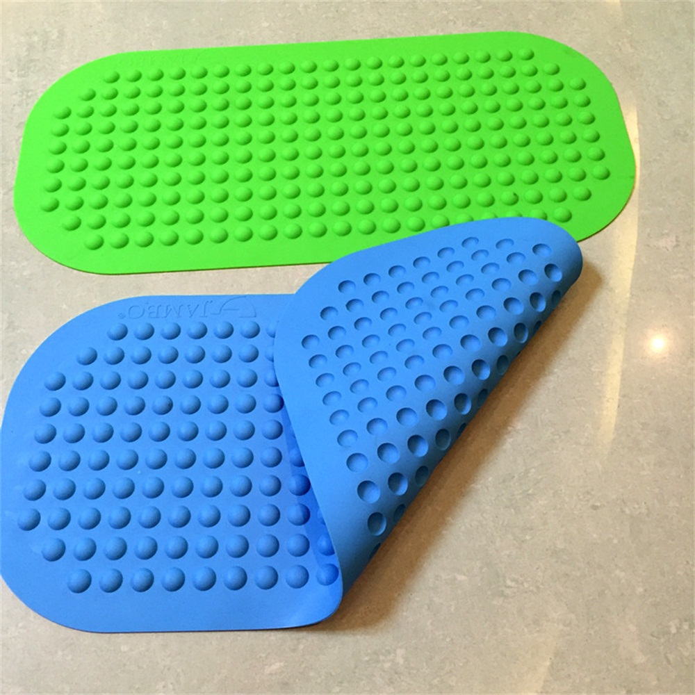 Non slip silicone bath shower mat
