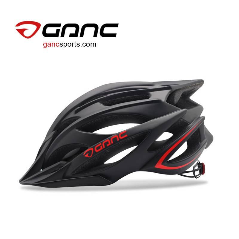 Ganc Matte Black Mountain Bike Helmet - Laser