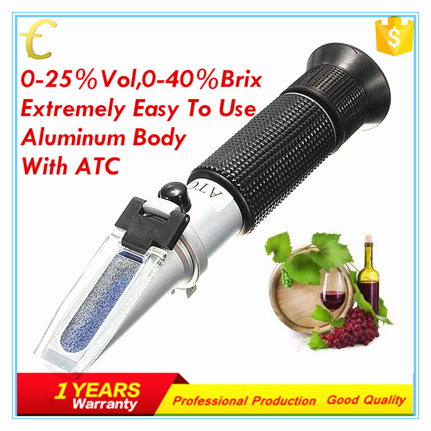 Grape Fruit Wine Brew Concentration Meter Brix Tester Refractometer