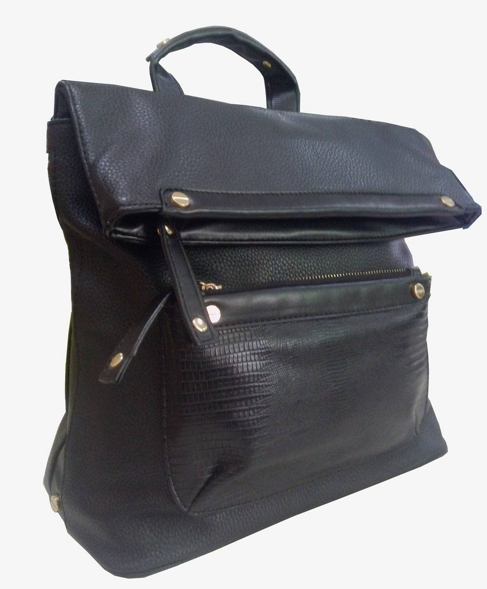 Handbags-front zip pocket backsack