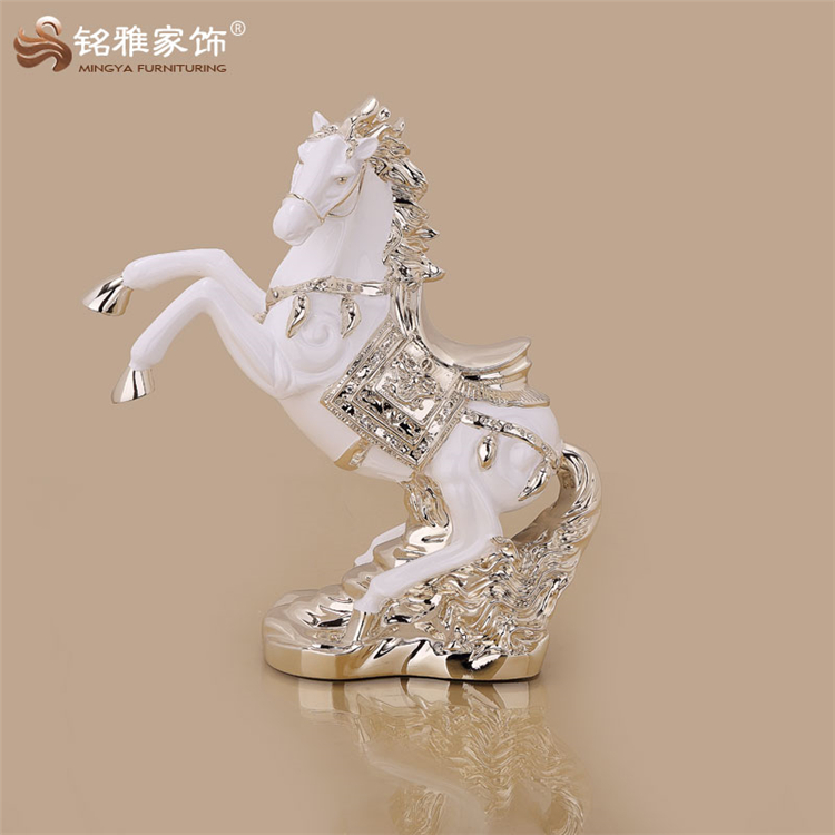Animal table decoration resin horse for business gift